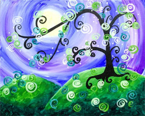 Whimsical Tree Canvas