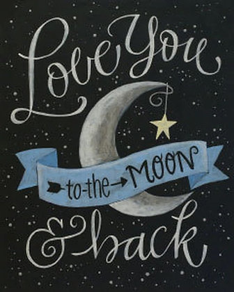 Love You To The Moon Canvas