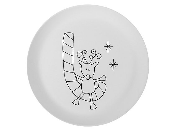 Candy Cane Reindeer Party Plate