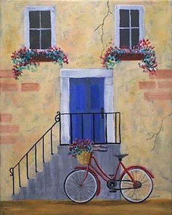 The Blue Door Canvas