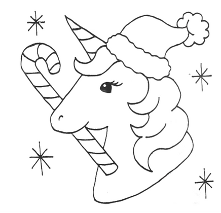 Fundraiser-Candy Cane Unicorn Party Tile