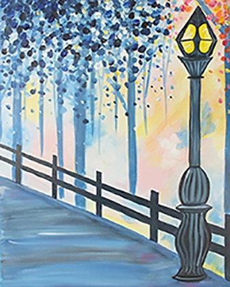 Evening Stroll Canvas