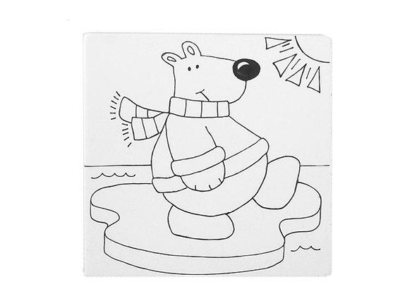 Polar Bear Party Tile