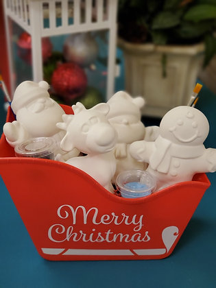 4 Piece Holiday Figurine Gift Set