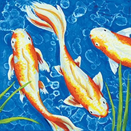 Lily Pond Trio Canvas