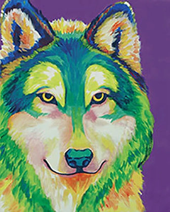 Colorful Wolf Canvas