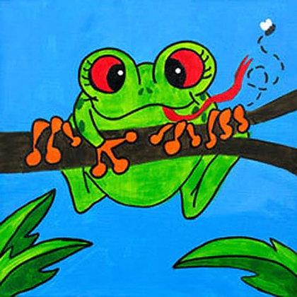 Friendly Frog Canvas