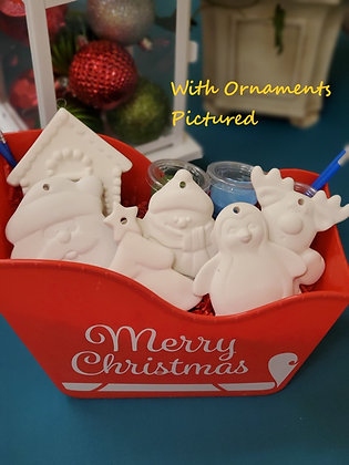 6 Flat Ornament Gift Set