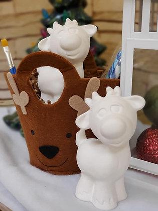 Reindeer Felt Bag Gift Set