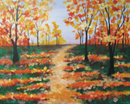 Autumn Path Canvas