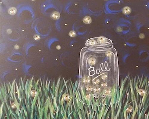 Catchin' Fireflies Canvas