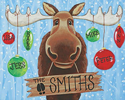 Christmas Moose Canvas