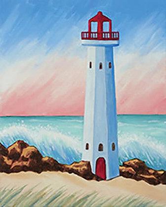 Coastal Lighthouse Canvas