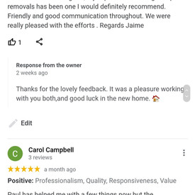 Reviews from Google,  perfect as always