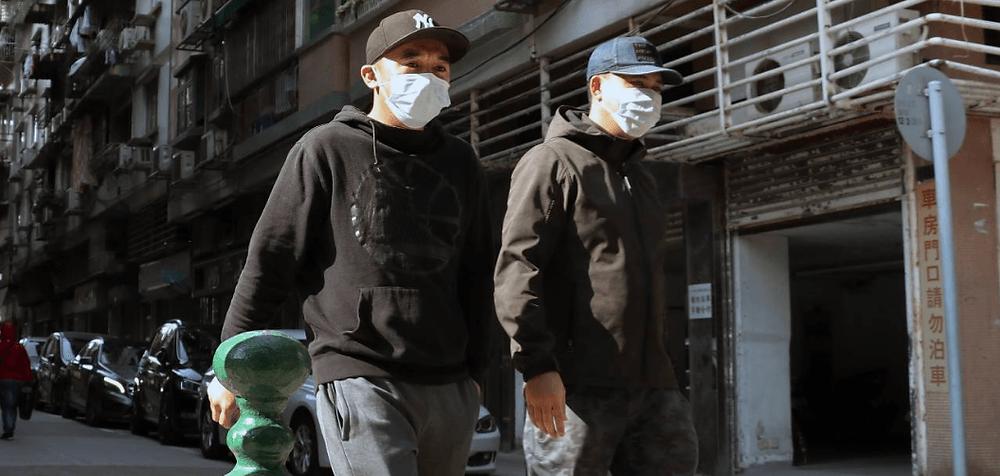 Two Asian men wearing mask