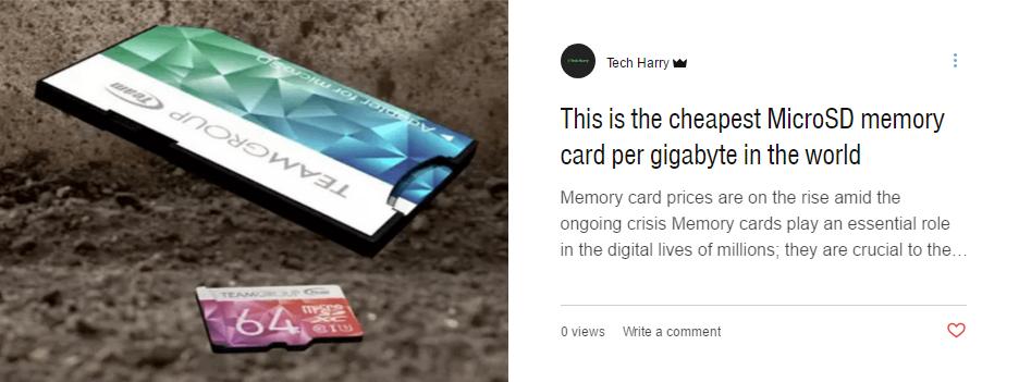 Cheapest micro sd card