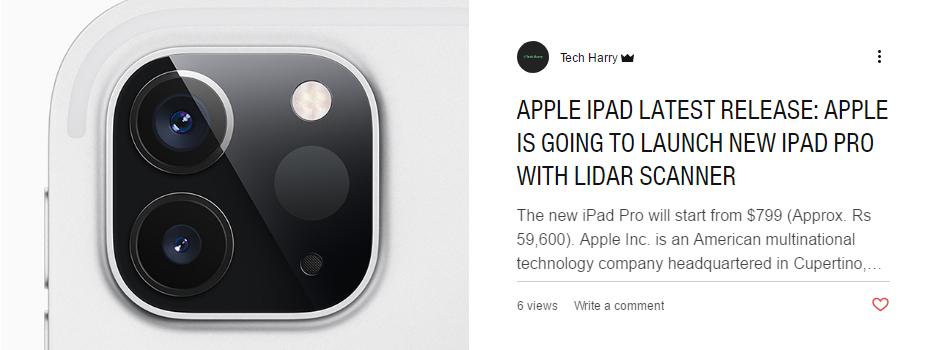 Latest iPad pro
