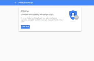 google's privacy settings
