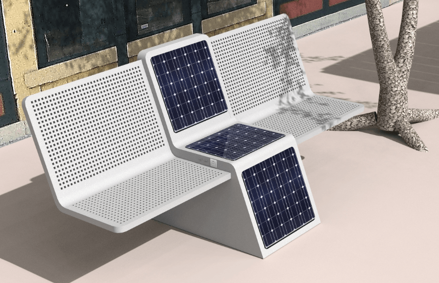 Solar Powered Bench