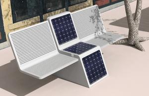 Solar Powered Bench