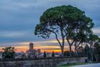 Este sunset cityscape