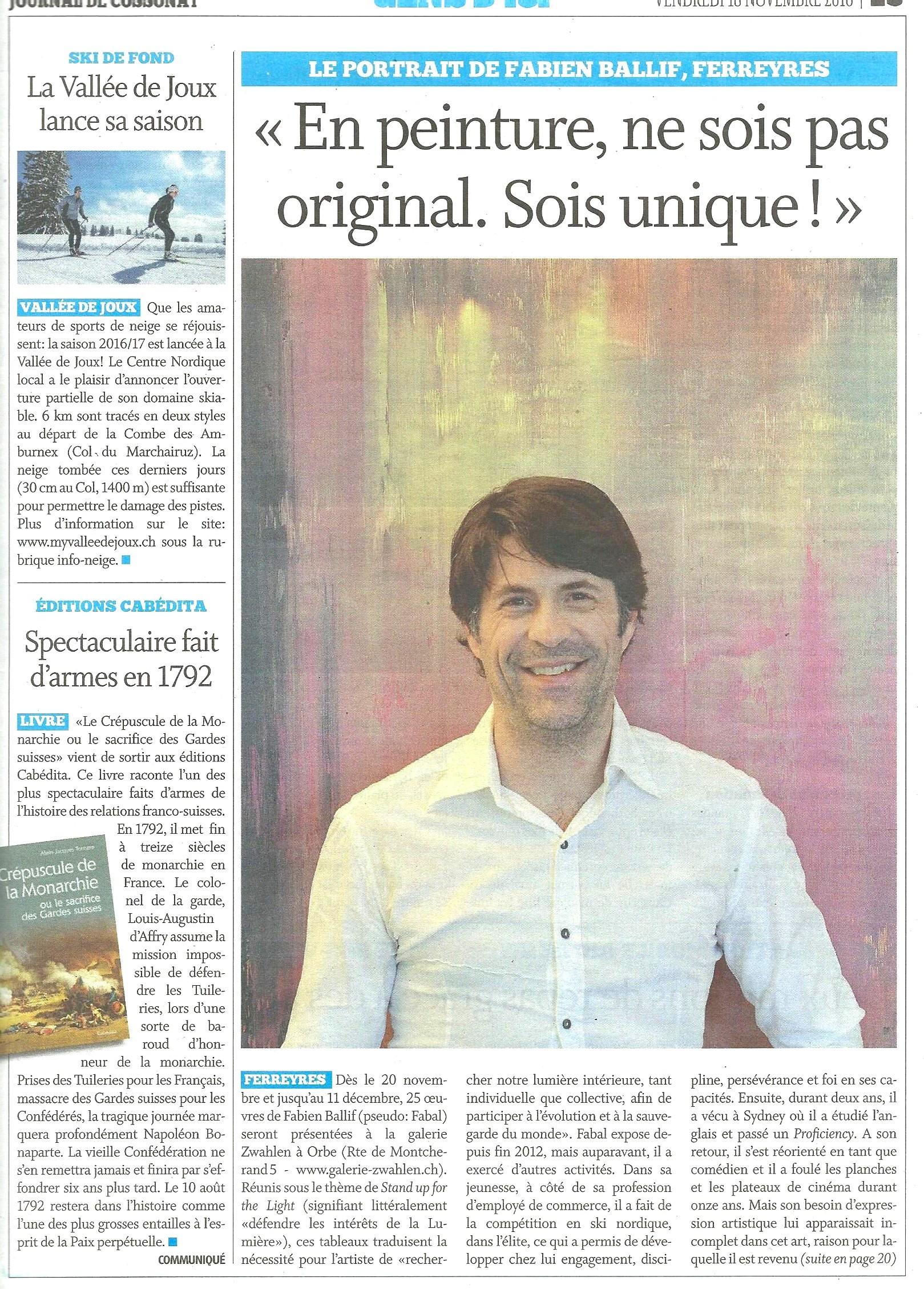 Journal de Cossonay - p.1