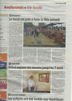 Journal L'Avallonais, Bourgogne (F)