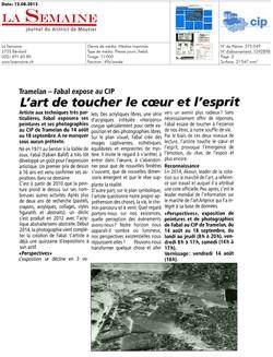 Journal La Semaine