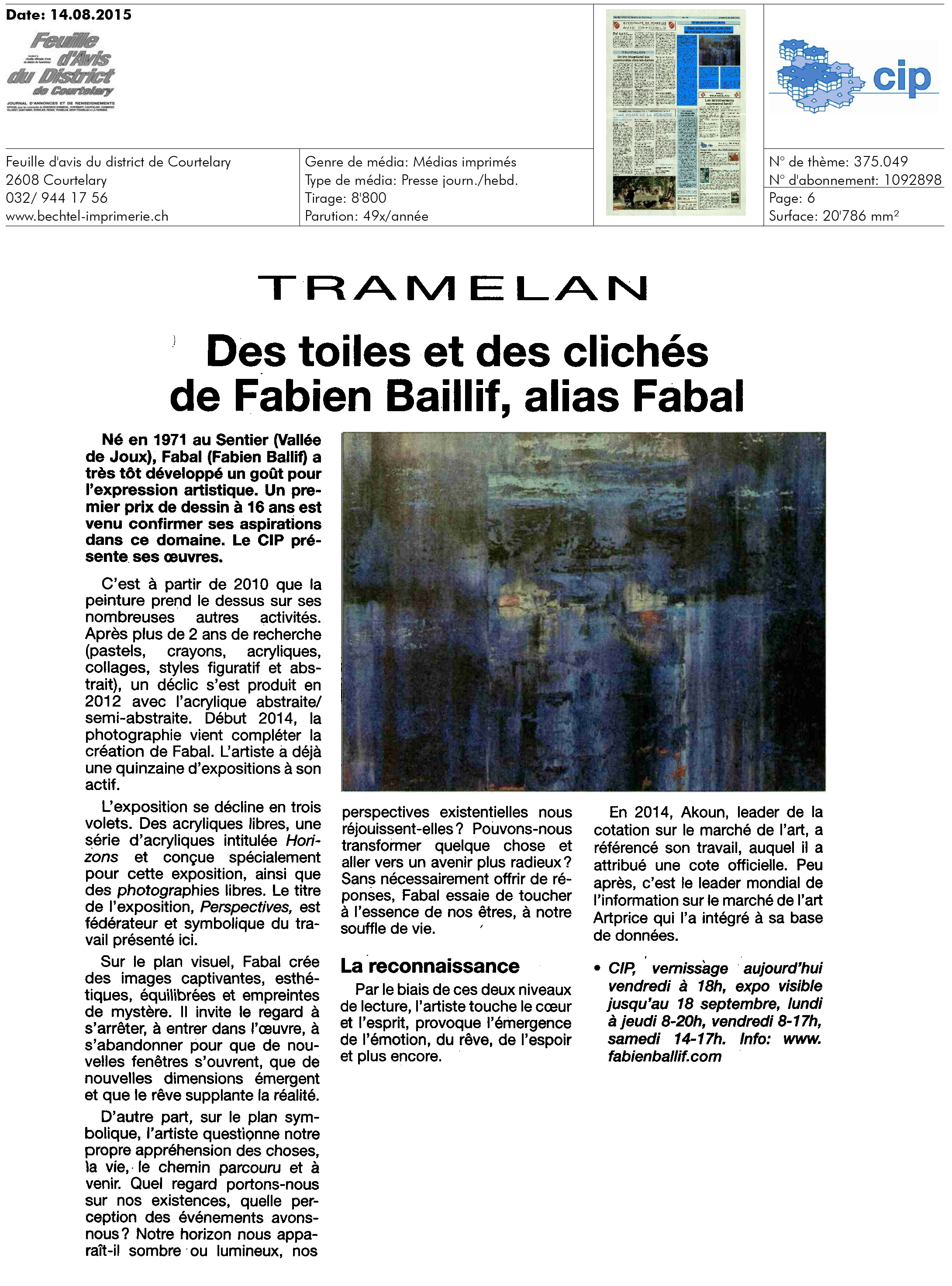 Journal La Feuille d'Avis