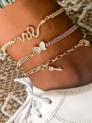 Garden Of Eden Ankle Bracelet Set