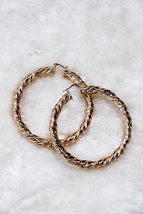 Gold Rope Hoops