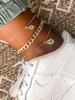 Santorini Kiss Ankle Bracelet Set