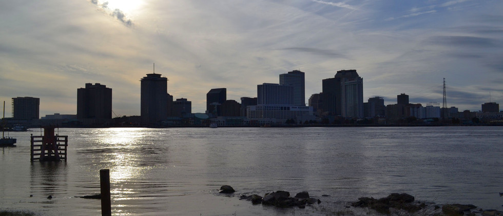 Downtown New Orleans from Algiers Point