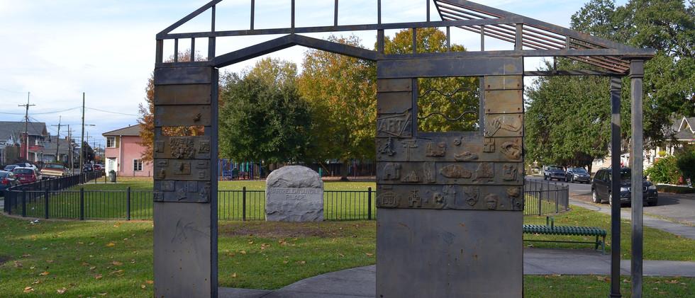 Iron House Sculpture