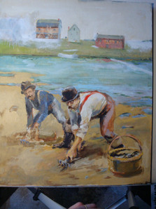The Clam Diggers 18x24