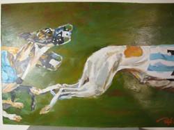 "Greyhounds2. Oil, 11x17"""