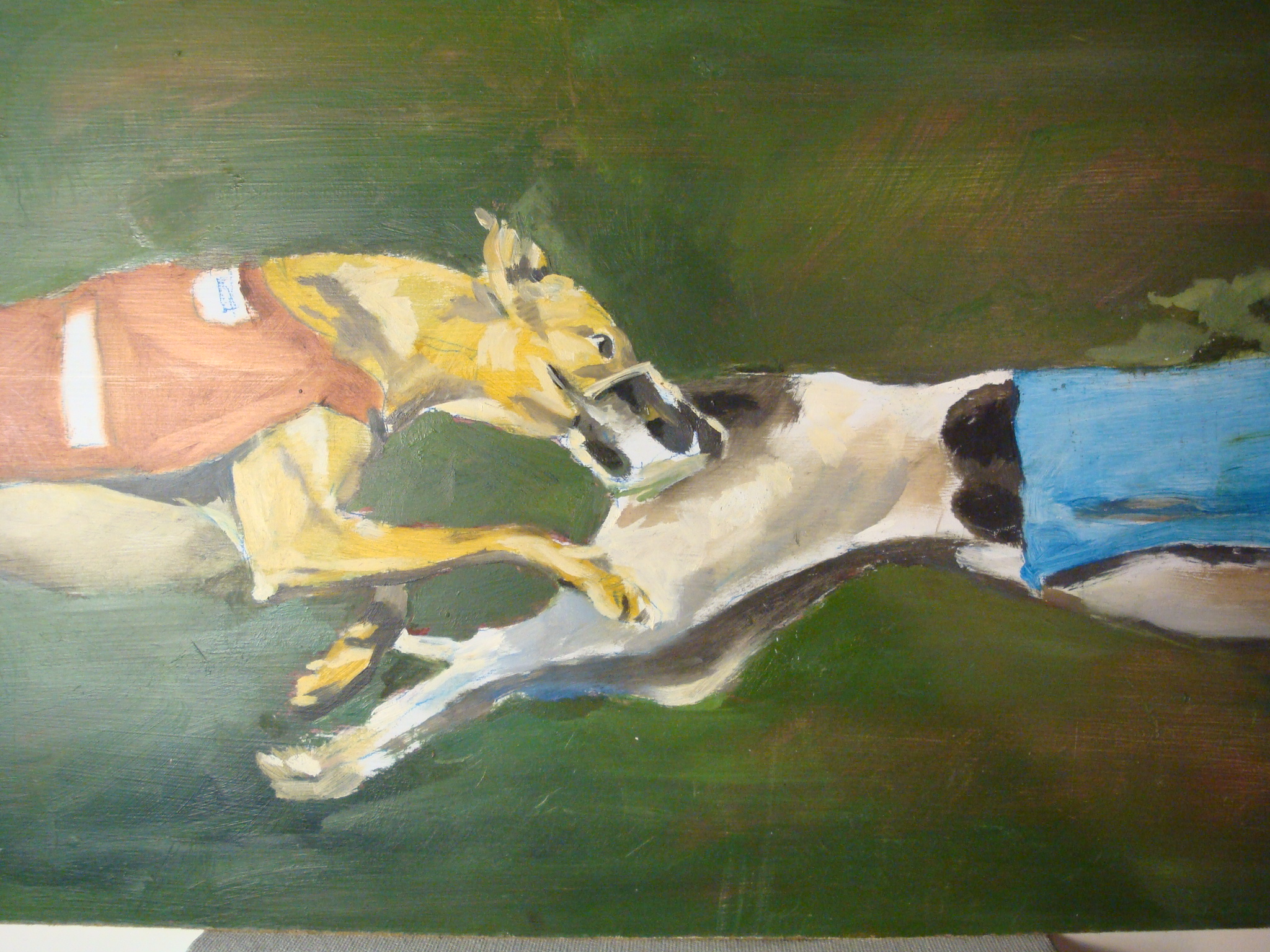 Greyhounds3. Oil, 11x17