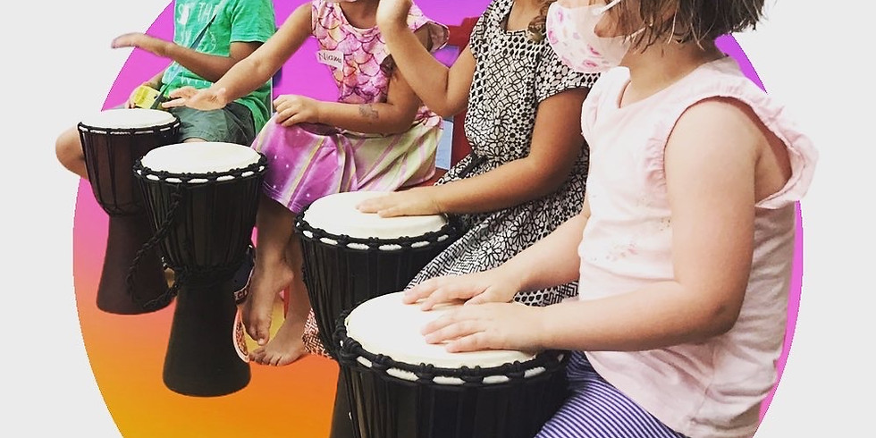Free DRUM JAMMING class (2-4 year olds and 5-7 year olds)