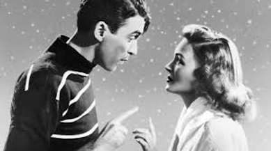 """George and Mary flirt from """"It's A Wonderful Life"""""""