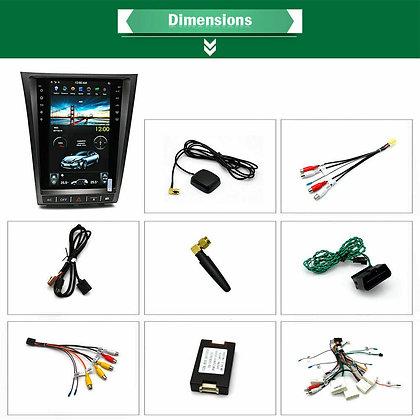 32GB Vertical Screen Car GPS Radio GPS Headunit For Lexus GS300 GS460 2006-2011