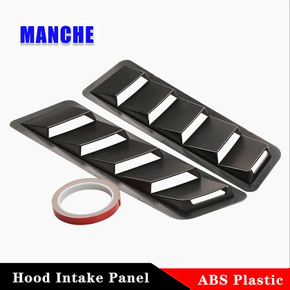 2X Universal Cooling Panel Trim Set Hood Vents Louver Air ABS Plastic Solid