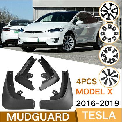 4x Car Mud Flaps Splash Guard Fender Mudguard For Tesla Model X 2016-2019