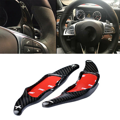Carbon fiber Steering Wheel Shift Paddle Extension For Benz AMG A45 CLA45 SL63