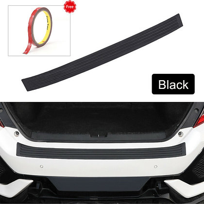 Black Car Auto Door Sill Guard Body Bumper Scratch Protector Rubber Pad Cover