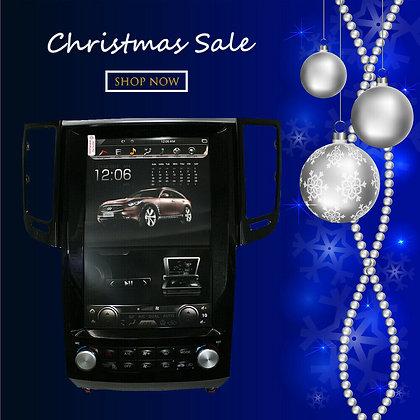 "12.1"" Tesla Style 32GB Car HD GPS Navigation For Infiniti QX70 FX35 FX50 2009-19"