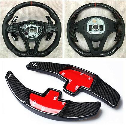 Carbon Fiber Steering Wheel Shift Paddle For Benz CLA CLS GLE LS S SL SLC