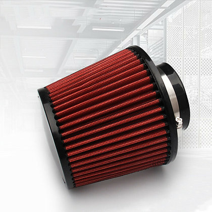New 76MM Round Tapered Universal Air Intake Cone Filter Chrome Truck/Car/SUV