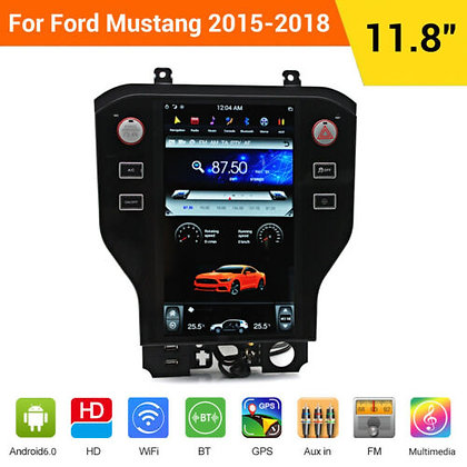 """11.8""""Multi Touch Screen GPS Navigation Car Radio For Ford Mustang 2015-2018 PLUS"""
