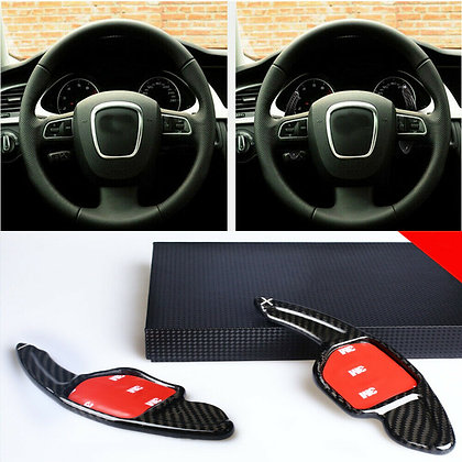 Carbon Fiber Steering Wheel Shift Paddle Shifter Extension For Audi A4L A8 S5 S6
