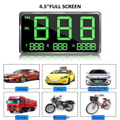 """4.5"""" Full Screen GPS Speedometer Hud C80 Display Digital For Motorcycle Truck US"""